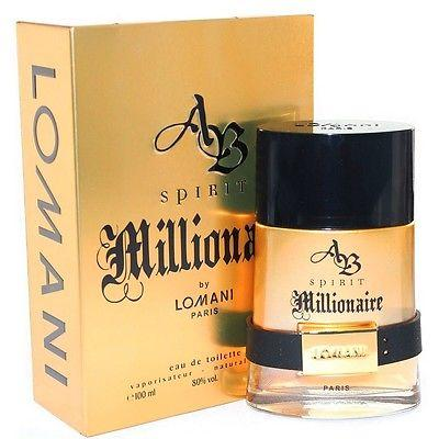 AB Spirit Millionaire by Lomani 3.3 oz EDP for men
