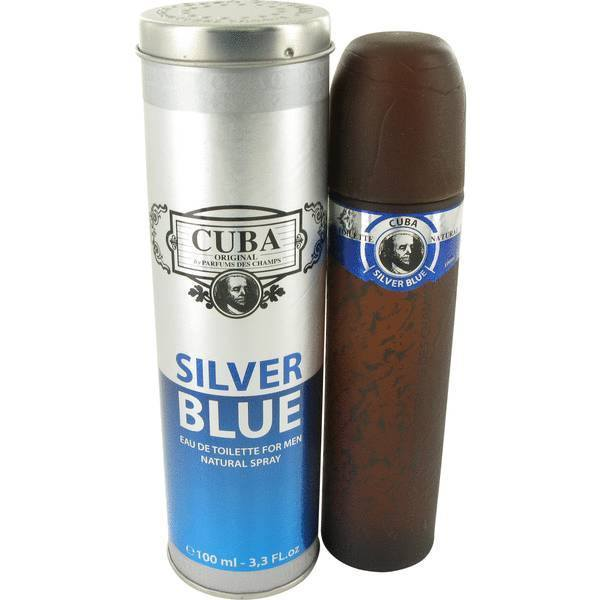 MENS FRAGRANCES - Cuba Silver Blue 3.4 Oz For Men