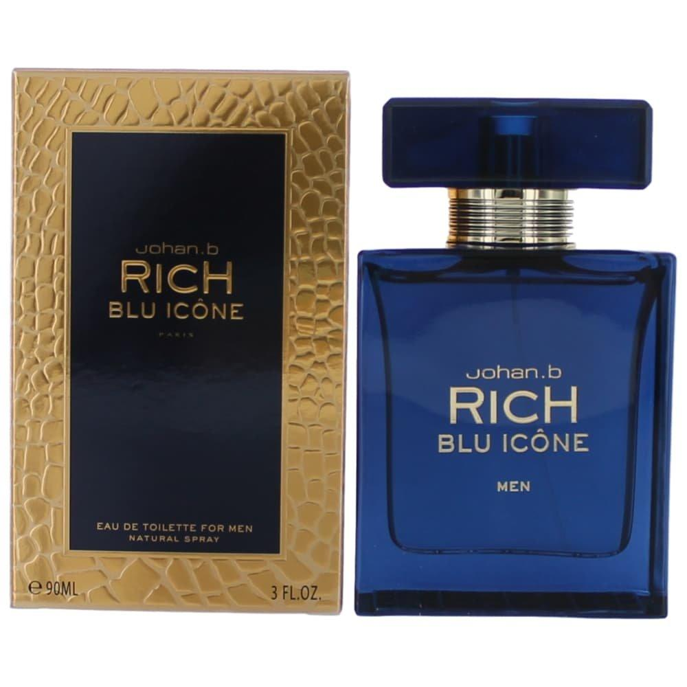 MENS FRAGRANCES - Johan. B Rich Blu Icone 3.4oz For Men