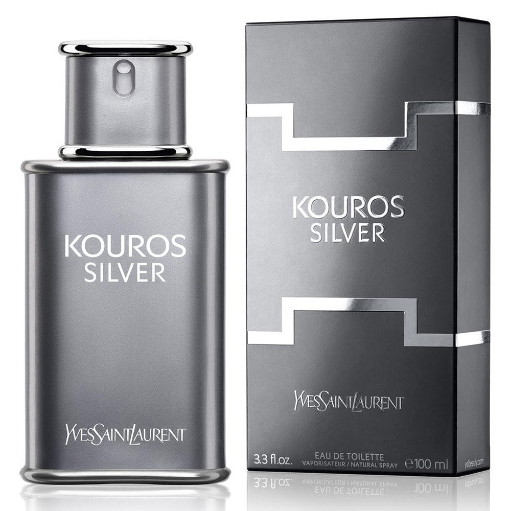 MENS FRAGRANCES - Kouros Silver 3.3 Oz EDT For Men
