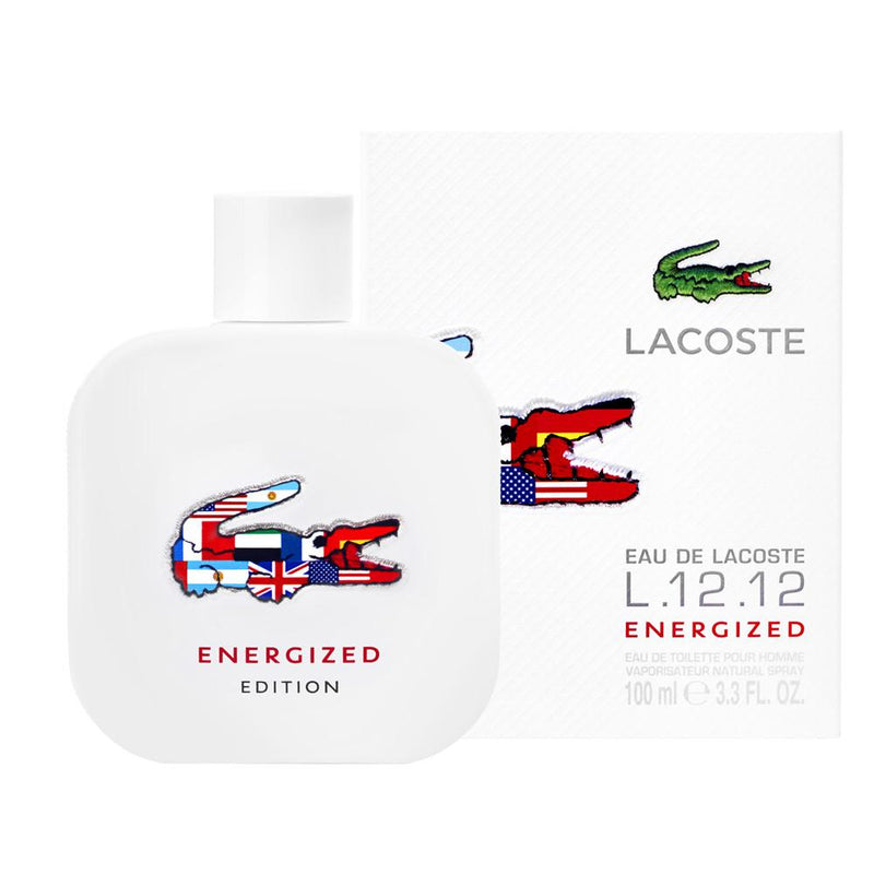 MENS FRAGRANCES - Lacoste L.12.12 Energized 3.4 Oz EDT For Men