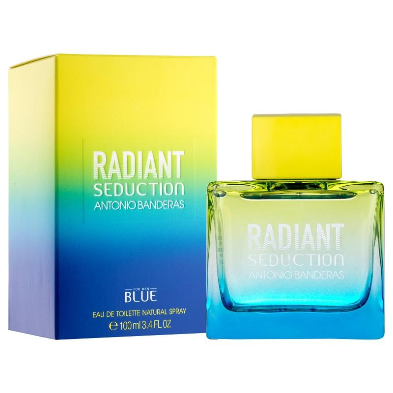 MENS FRAGRANCES - Radiant Seduction Blue 3.4 Oz EDT For Men
