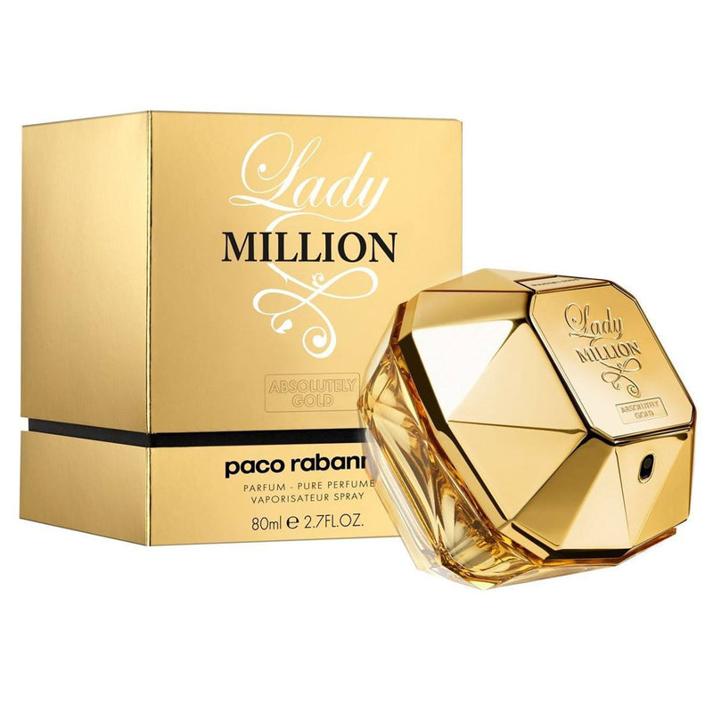 WOMENS FRAGRANCES - Lady Million Absolutely Gold 2.7 Oz Pure Perfume For Women