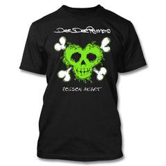 Toxic Green Poison Heart Tee