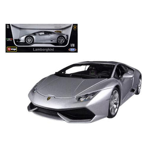 Lamborghini Huracan LP610-4 Silver 1/18 Diecast Car Model by Bburago