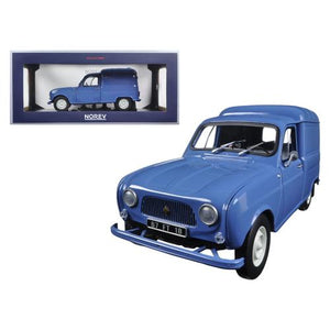 1965 Renault 4 Fourgonette Blue 1/18 Diecast Model Car by Norev
