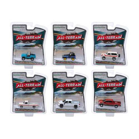 """All Terrain"" Set of 6 pieces Series 8 1/64 Diecast Model Cars by Greenlight"