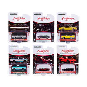 "Barrett Jackson ""Scottsdale Edition"" Set of 6 Cars Series 6 1/64 Diecast Model Cars by Greenlight"