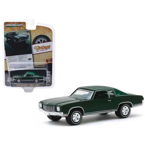1970 Chevrolet Monte Carlo Dark Green with Light Green Top