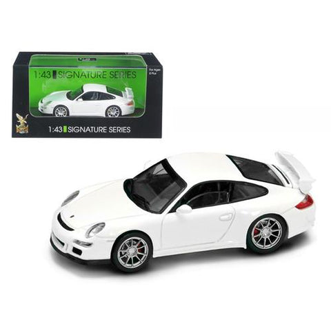 Porsche 911 997 GT3 White Signature Series 1/43 Diecast Model Car by Road Signature