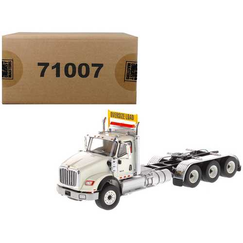 International HX620 Day Cab Tridem Tractor White 1/50 Diecast Model by Diecast Masters