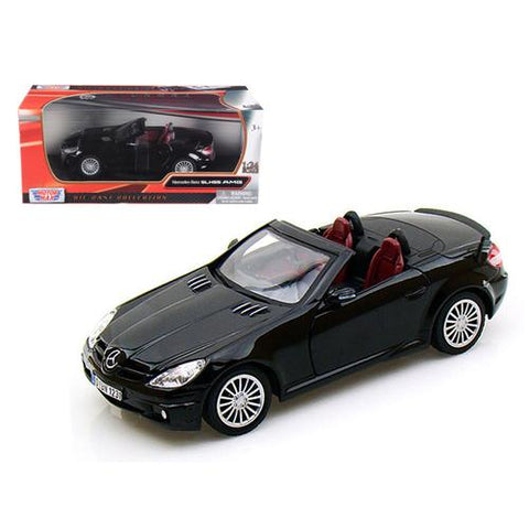 Mercedes SLK 55 AMG Black 1/24 Diecast Car Model by Motormax
