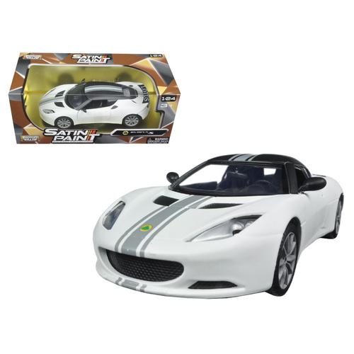 Lotus Evora S Matt White 1/24 Diecast Model Car by Motormax