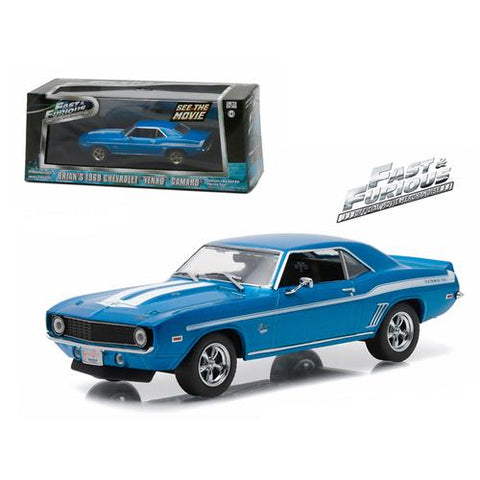 "Brian's 1969 Chevrolet Yenko Camaro ""The Fast and The Furious-2 Fast 2 Furious"" Movie (2003) 1/43 Diecast Model Car by Greenlight"