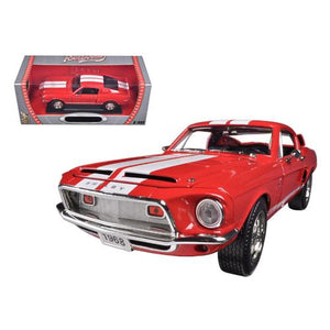 1968 Ford Shelby Mustang GT500KR Red 1/18 Diecast Car Model by Road Signature