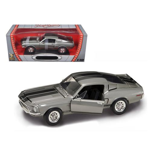 1968 Shelby GT 500KR Silver 1/18 Diecast Model Car