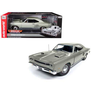 "1969 Dodge Coronet R/T Silver ""MCACN"" Muscle Car & Corvette Nationals Limited Edition to 1002 pieces Worldwide 1/18 Diecast Model Car by Autoworld"