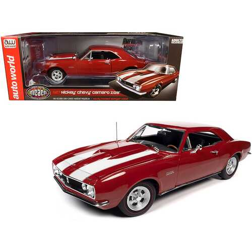 1967 Chevrolet Camaro Z/28 Nickey Hardtop Bolero Red with White Stripes