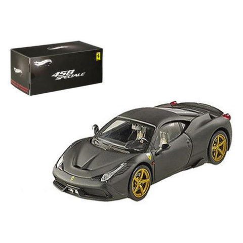 Ferrari 458 Italia Speciale Matt Black Elite Edition 1/43 Diecast Model Car by Hotwheels