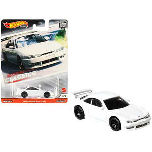 "Nissan Silvia (S14) White ""Modern Classics"" Diecast Model Car by Hot Wheels"