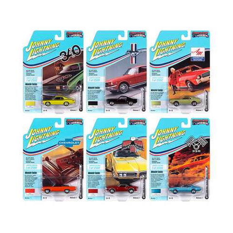 Muscle Cars USA 2020 Set A of 6 Cars Release 1 Limited Edition to 2500 pieces Worldwide 1/64 Diecast Model Cars by Johnny Lightning