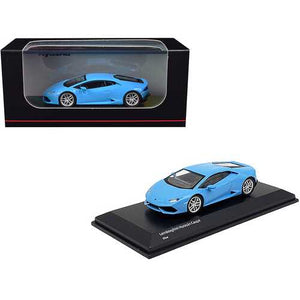 Lamborghini Huracan Coupe Light Blue 1/64 Diecast Model Car by Kyosho