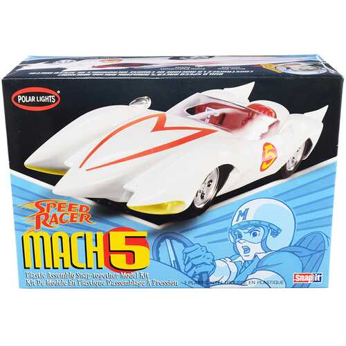 Skill 2 Snap Model Kit Speed Racer Mach 5 1/25 Scale Model by Polar Lights