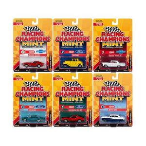 "2019 Mint Set A of 6 Cars Release 1 ""30th Anniversary"" (1989-2019) Limited Edition to 2000 pieces Worldwide 1/64 Diecast Models by Racing Champions"