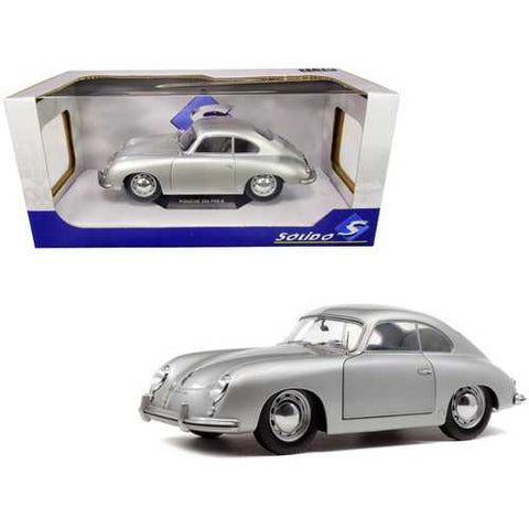 1953 Porsche 356 PRE-A Silver Metallic 1/18 Diecast Model Car by Solido