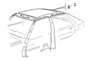 Button (Rear Roof Liner) Integrale