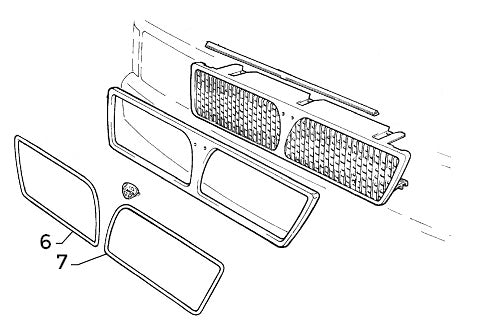 Plastic Surround Set (Front Grille) Integrale & Evolution