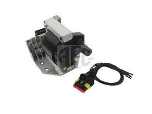 Ignition coil with amplifier assembly and plug set electrical connector for Lancia Delta HF Turbo 1600 (1986-1992) O.E. Part Number: 7590055. Products made in Italy