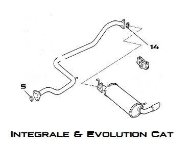 Exhaust Seal Integrale & Evolution Cat - AE CAR - 2