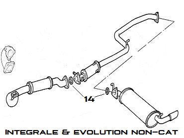 Exhaust Seal Integrale & Evolution - AE CAR - 3