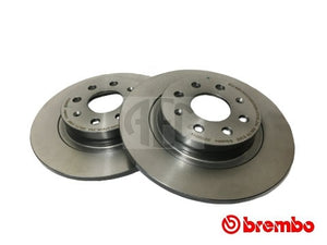 Brembo rear brake discs Abarth Grande Punto, Abarth Punto Evo, Abarth Punto. O.E. Part Number: 55700592, 55700593.