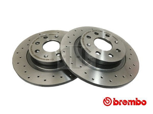 Brembo rear brake discs Abarth Punto. O.E. Part Number: 50902167.
