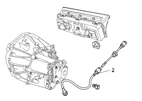 Speedo Cable (Lower Gearbox End) Lancia Delta Integrale