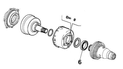 Bearing front differential transfer gearbox Alfa Romeo 155