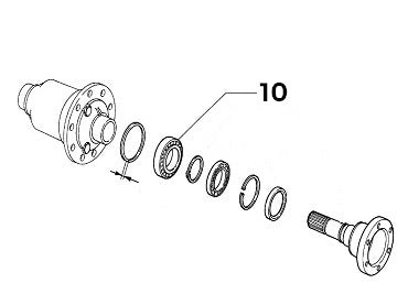Bearing (Rear Left Drive Shaft/Diff) Integrale & Evolution