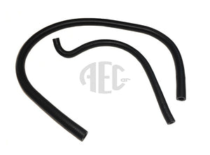 Silicone power steering hose set for Lancia Delta HF Integrale 2.0 8V (1987-1990) O.E. Part Number: 82445440, 82445441. O.E. black finish oil-resistant silicone hoses. In diagram image no: 6 & 7