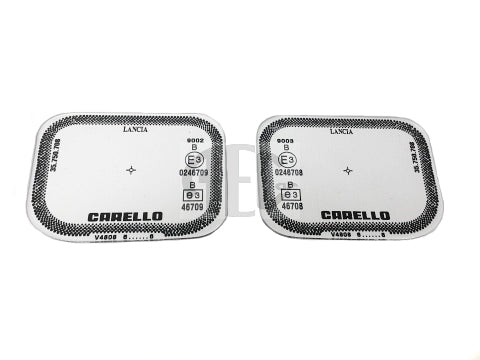 Reproduction fog lamp replacement lenses manufactured from scratch-resistant optical perspex with the correct graphics to fit Lancia Delta Evolution (1991-1995) Integrale Evolution 2.0 8V Evolution 2.0 16V O.E. Part Number: 82468776, 82468777