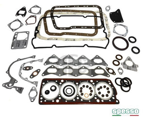 Engine gasket set for Lancia Delta HF Integrale & Evolution 2.0 16V (1989-1993) O.E. part number 5893560. Made in Italy by Spesso gaskets.