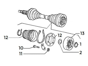 Lock Ring (C.V. Joint Inner Axle) Integrale