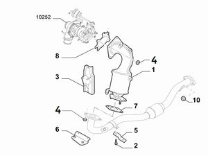 Nut Catalytic Converter | Abarth 500 595