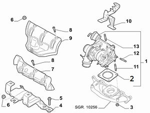 Gasket (Exhaust Manifold to Turbo) Abarth 500 595 695