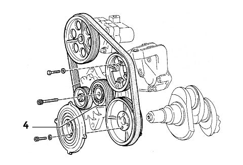 Tensioner Pulley Auxiliary Belt Lancia Delta Evolution II