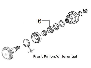 Bearing Pinion Front/Rear Differential | Integrale