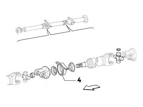 Prop Shaft (Centre) Support Mounting Lancia Delta