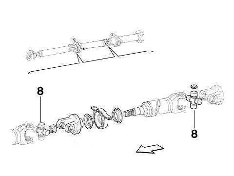 Propshaft U-Joint Lancia Delta Integrale & Evolution
