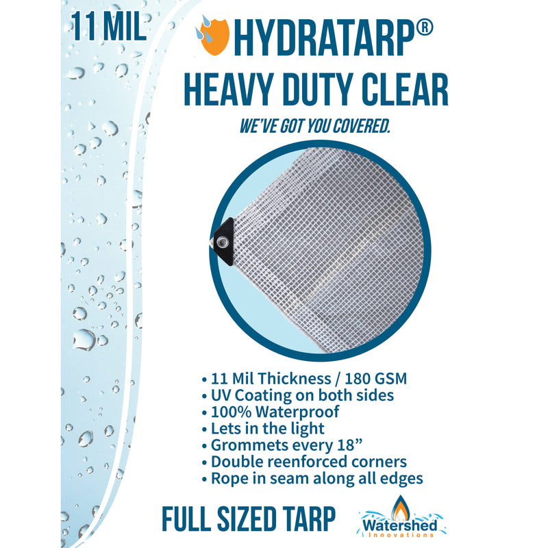 HydraTarp® Heavy Duty Clear Tarp